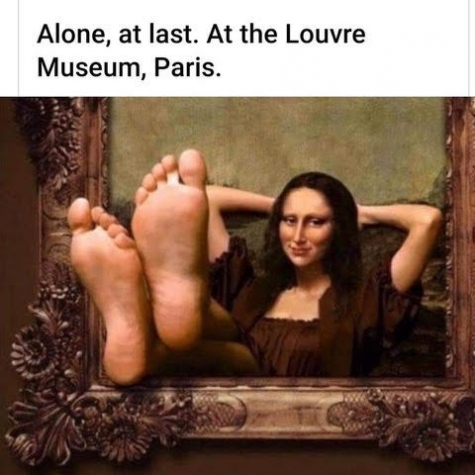 Alone at Last at The Louvre