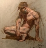 Crouching Figure by Rob Liberace
