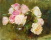 Pink Roses Red Roses by Kathy Anderson